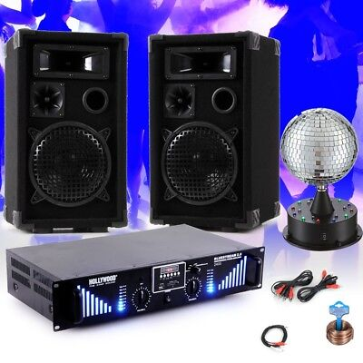2400W PA party music system boxes usb amplifier disco mirror ball DJ NightStar 5