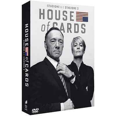 STV *** HOUSE OF CARDS - Stagione 1-2 (8 Dvd) *** sigillato
