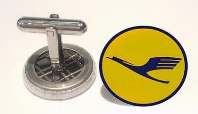Lufthansa Airline logo Mens Cufflinks ,Brithday  Gifts Cufflinks Mens  Cufflings
