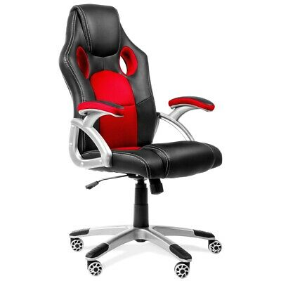 Silla de oficina racing gaming sillon de despacho color Roja-McHaus