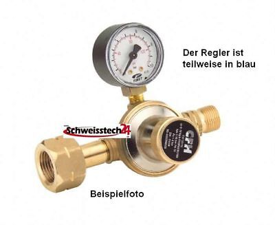 "Propan Druckregler Manometer stufenlos regelbar 1-4 bar - 21,8 mm - 3/8"" CFH"
