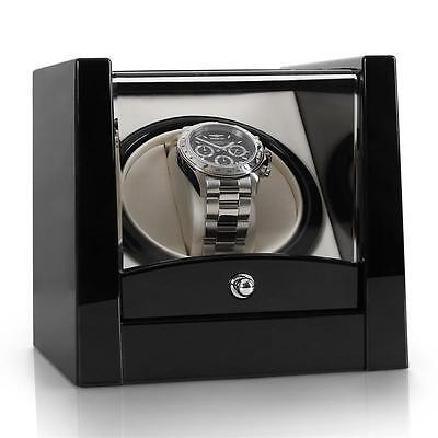 Automatic Time Single Watch Winder Black Box Gift Motor Cover Home *free P&p*