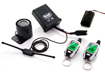 Hawk Carbon Lcd 2 Way Pager Motorcycle Alarms & Immobiliser Remote Start