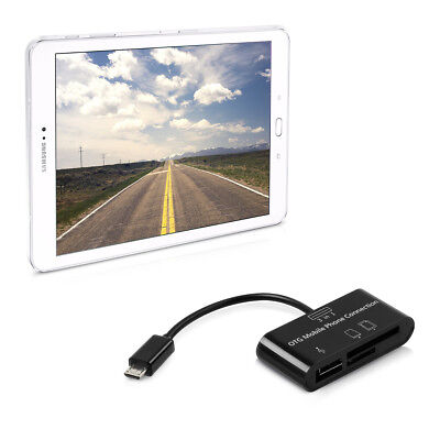 kwmobile 3 In 1 Micro Usb 2.0 Card Reader für Samsung Galaxy Tab S2 9.7 Adpater