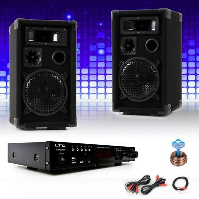 PA party compact stereo speakers amplifier USB MP3 SD Bluetooth DJ-compact 7