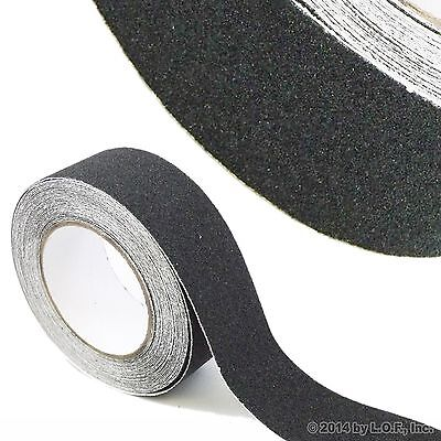 "2"" x 30' Black Roll Safety Non Skid Tape Anti Slip Tape Sticker Grip Safe Grit"