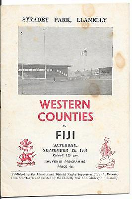 1964 - Western Counties v Fiji, Touring Match Programme.