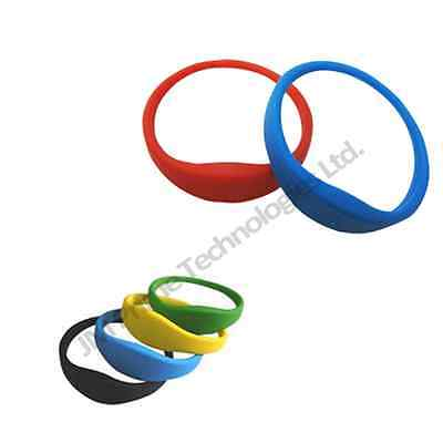 125khz wristbands EM4001 EM4102 EM4200 LF rfid proximity rugged silicon band