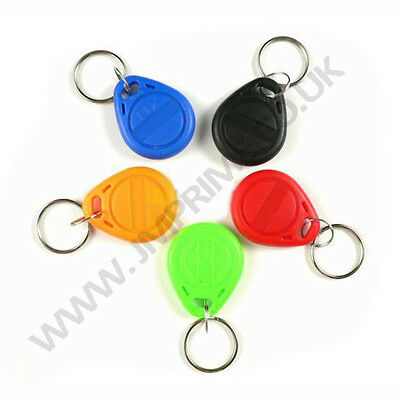 T5577 125khz keyfobs T5557 T5567 atmel temic rewrite rfid access control keytags