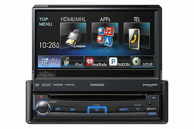 Kenwood KVT-7012BT In Dash Single Din Monitor Receiver w/ Bluetooth KVT7012BT B