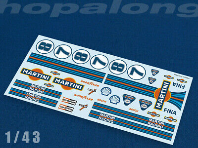 Scalextric/Slot Car 1/43 Scale Waterslide Decals. ft038