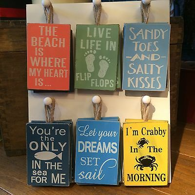 Beach signs.Shabby chic.Nautical.Wooden hanging sign.Gift. Seaside.New.Plaque