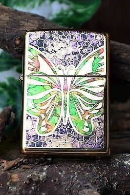 Zippo Lighter - Fusion Butterfly - Stained Glass - Model # 44483