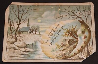 """Vintage Advertising Post Card Compliments of The Toledo Spice Co.""""German Coffee"""""""