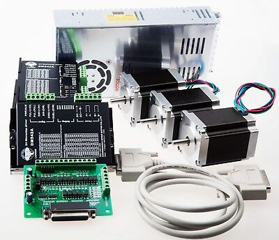 3Axis Nema 23 Stepper Motor 270oz-in &Driver  4.2A CNC Router