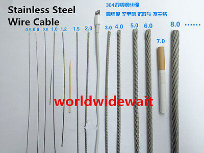 1.5mm Dia 7x7 25M Length Stainless Steel Wire Rope Cable for Hoisting S2U7