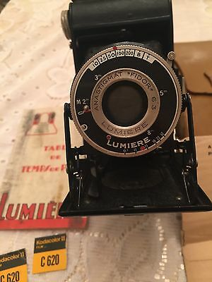 1935 Vintage LUMIERE French Photo Camera Anastigmat Fidor