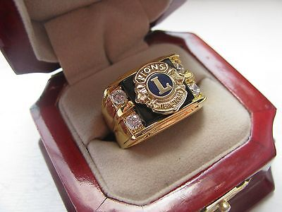 3 NEW! Gents Lions Club International Members Crest Ring