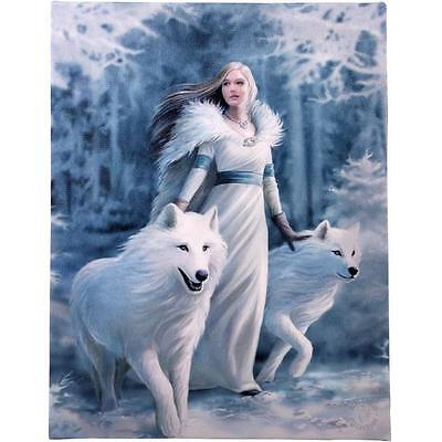 Anne Stokes Design Winter Guardian Canvas Wall Print Wolf/Wolves Brand New