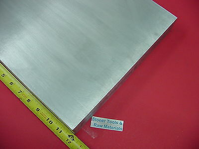 "1/2"" X 12"" ALUMINUM 6061 FLAT BAR 12"" long Solid T6511 .50 Plate Mill Stock"