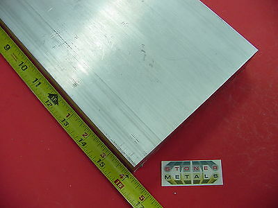 "2"" X 6"" ALUMINUM 6061 FLAT BAR 16"" long SOLID T6511 2.00"" Plate Mill Stock"