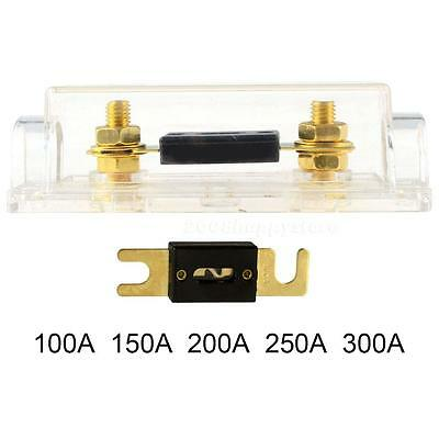 Car Audio Transparent Fuse Holder Insurance Protection Circuit Brass Wire HYSG