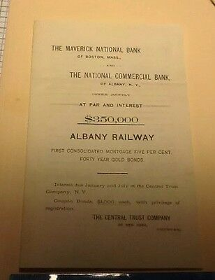 Albany Railway Bond brochure