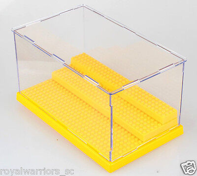 Yellow Big Display Case box building minifigure Assemble decoration Fit for Lego