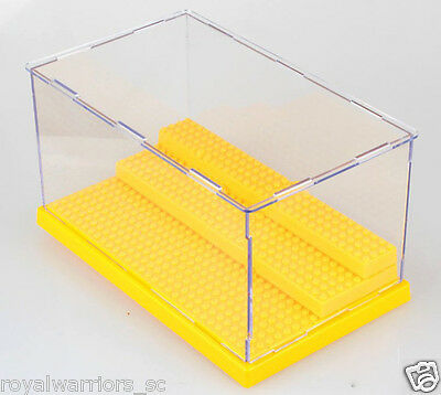 x1 yellow Big Display Case box for Lego building minifigure Assemble decoration