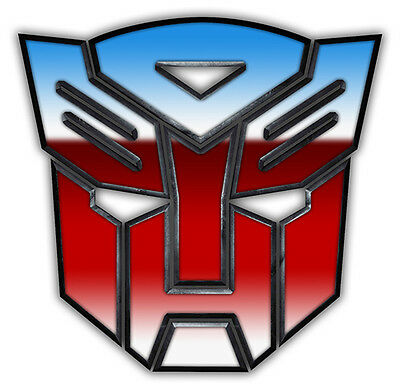 TRANSFORMERS Logo Edible wafer Party Birthday Cake Decoration Topper Image