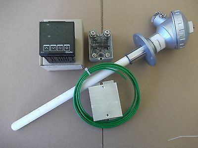 RAMP AND SOAK 9 STEP  PID CONTROLLER , S TYPE PROBE 1450deg C , SSR FOR KILN