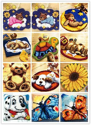Latch Hook Kit Rug Spinrite Wonderart About 50CM Length Cushion DIY  Embroidery