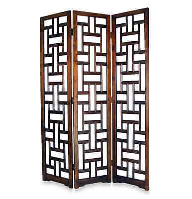 3 Panel Room Divider Bedroom Privacy Screen Living Room Decor Accent Piece