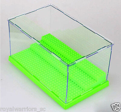 x1 Green Display Case box for Lego building minifigure Assemble decoration