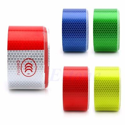 "2"" X 10' 3M Red Trucks Car Warning Reflective Safety Tape Roll Adhesive Sticker"