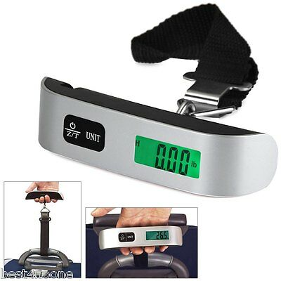 New 50kg LCD Mini Luggage Electronic Scale Thermometer Digital Weighing Device