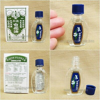 3X HOE HIN Pak Fah Yeow White Flower Oil Embrocation Pain Relief 2.5 ...