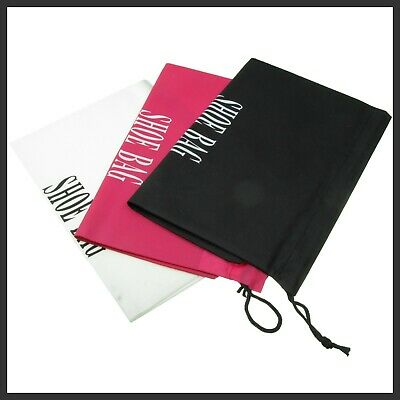 x 3, drawstring shoe bags,Travel Dust Storage Bag Gym Sport ,Pink, White & Black