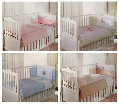 Various Colours Baby Bedding Cot Sleeping Bedtime Bundle: Quilt, Sheet & Bumper