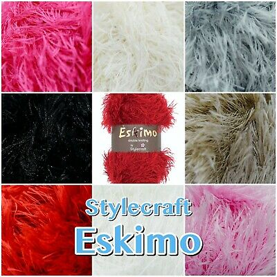 Stylecraft Eskimo DK Fluffy Furry Soft Eyelash Knitting Wool Yarn 50g Ball