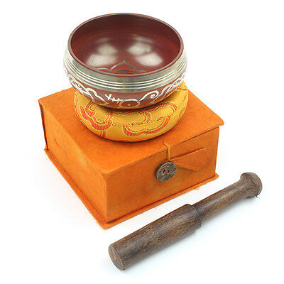 Healing Orange Sacral Chakra Design Tibetan Singing Bowl Gift Set