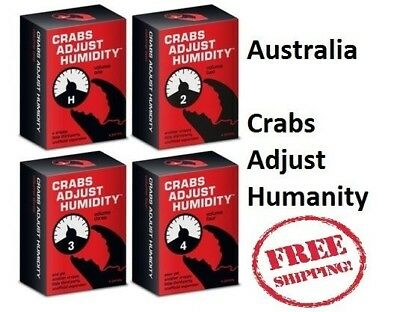 Crabs Adjust Humidity Vol 1,2,3,4 Cards Against Humanity Expansion Brand New AUS