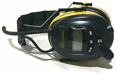 OPD Digital AM FM Radio Yellow Earmuffs Headphones use with MP3 IPOD