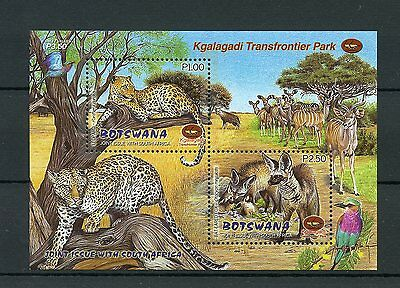 Botswana 2001 MNH Kgalagadi Transfrontier Park Joint Issue South Africa 2v M/S