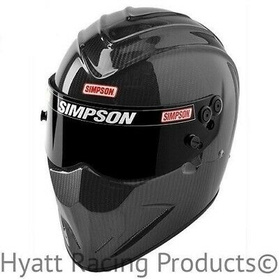 Simpson Carbon Diamondback Auto Racing Helmet SA2015 - All Sizes (Free Bag)