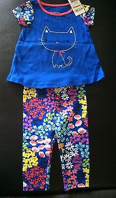 NWT First Impressions Girls  2-Piece Outfit T-Shirt  Top & Leggings Sz 3-6 Mos
