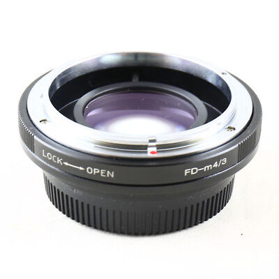 Camdiox Focal Reducer Speed Booster Canon FD mount lens to Micro 4/3 m43 Adapter