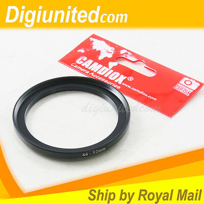 Camdiox 46mm to 52mm 46-52 Lens Filter Step Up Adapter Ring for SLR DSLR Camera