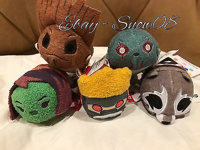 Disney Store Tsum Tsum Mini Set Of 5 Piece Guardians of the Galaxy New With Tags