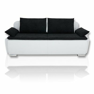 boxspring schlafsofa memphis sofa dauerschl fer in beige mit kissen eur 435 95 picclick de. Black Bedroom Furniture Sets. Home Design Ideas